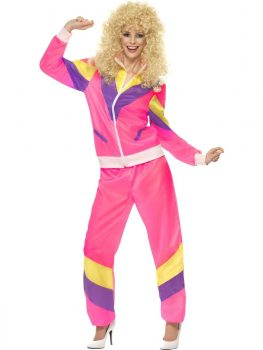 Women's 80s Height of Fashion Shell Suit Fancy Dress Costume Pink.jpg